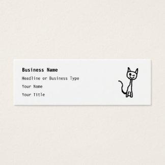 Schwarze Katze, blinzelnd Mini Visitenkarte