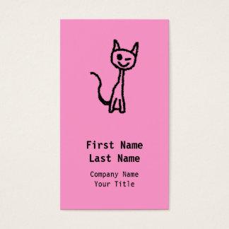 Schwarze Katze, blinzelnd Visitenkarte