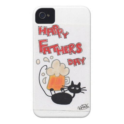 Schwarze Katze des Vatertags Case-Mate iPhone 4 Hülle