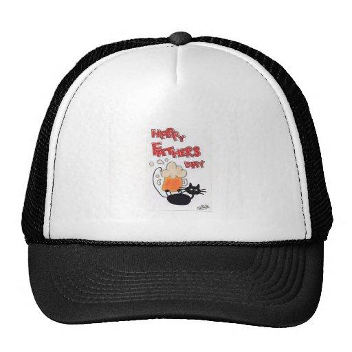Schwarze Katze des Vatertags Baseball Mütze