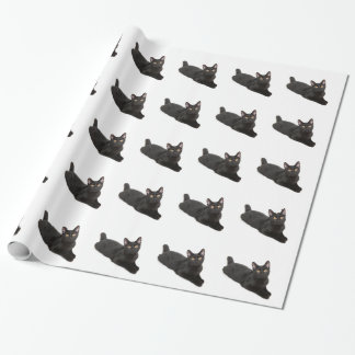 Schwarze Katze Geschenkpapier