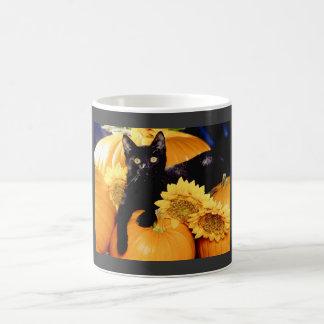Schwarze Katze Kaffeetasse