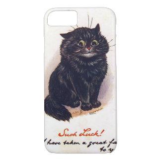 Schwarze Katze, Louis Wain iPhone 8/7 Hülle
