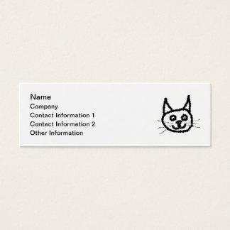 Schwarze Katze Mini Visitenkarte