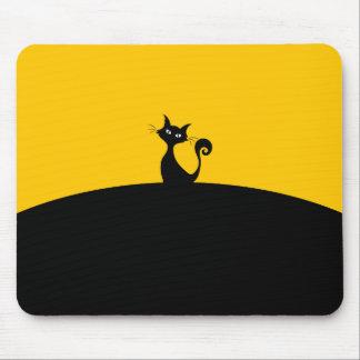 Schwarze Katze Mousepad
