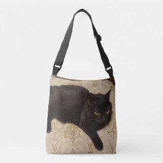 Schwarze Katze Roxie Tragetaschen Mit Langen Trägern