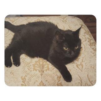 Schwarze Katze Roxie Türschild