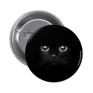 schwarze Katze Runder Button 5,7 Cm