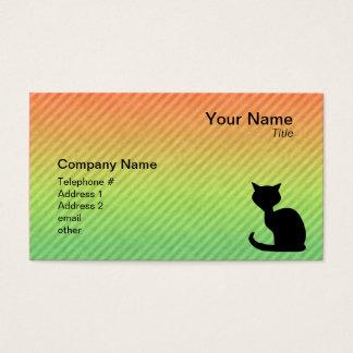 Schwarze Katze Visitenkarte