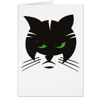 Schwarze Katzen-Gruß-Karte Grußkarte