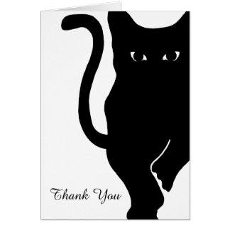 Schwarze Katzen-Hochzeit danken Ihnen Karte