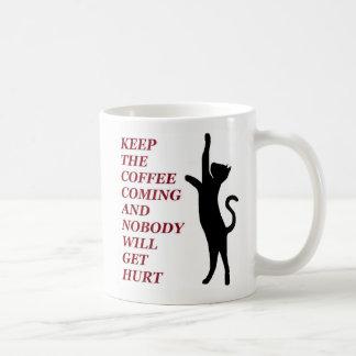 Schwarze Katzen-Kaffee-Tasse Kaffeetasse