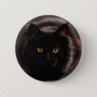 Schwarze Katzen-Knopf Runder Button 5,7 Cm