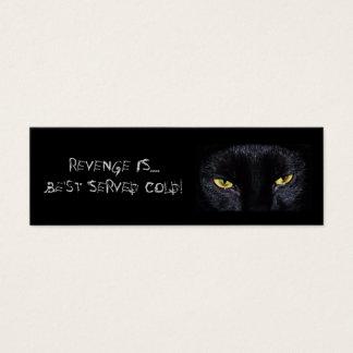 Schwarze Katzen-Lesezeichen Mini Visitenkarte