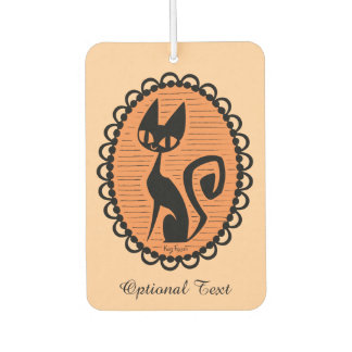 Schwarze Katzen-Miniatur Halloweens Autolufterfrischer