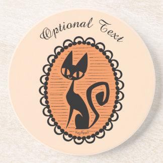 Schwarze Katzen-Miniatur Halloweens Untersetzer