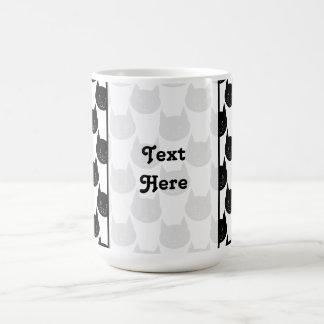 Schwarze Katzen-Muster Kaffeetasse