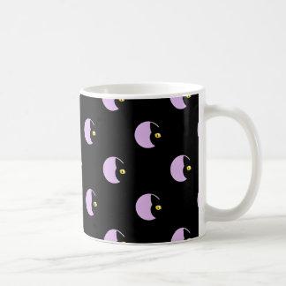Schwarze Katzen-Muster-Tasse Kaffeetasse