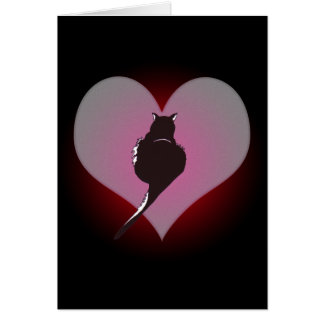 Schwarze Katzen-Panther meine Herz-Karte Grußkarte