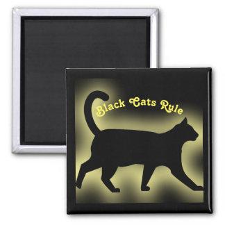 Schwarze Katzen-Regel Quadratischer Magnet