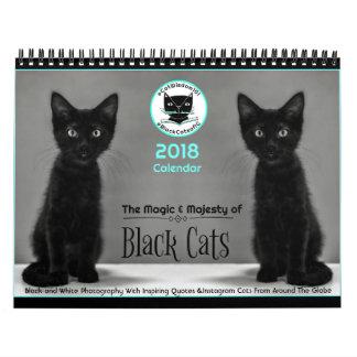 Schwarze Katzen sagen allem Kalender 2018