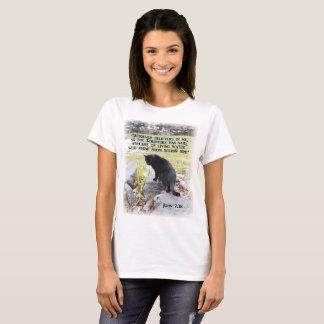 Schwarze Katzen-Schrift T-Shirt