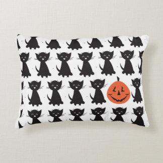 Schwarze Katzen und Jack-Kissen Zierkissen