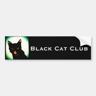 Schwarze Katzen-Verein-Autoaufkleber Autoaufkleber