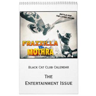 Schwarze Katzen-Verein-Kalender, die Kalender
