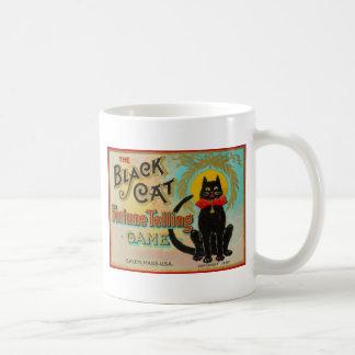 Schwarze Katzen-Wahrsagerei-Spiel Kaffeetasse