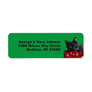Schwarze Katzen-Weihnachten auf