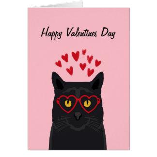 Schwarze Katzevalentines-Karten-Liebe-Katzen Karte