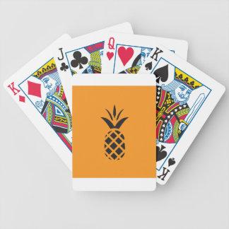 Schwarze Kiefer Apple in Brown Bicycle Spielkarten