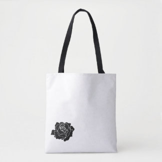 Schwarze kleine Rose Tasche