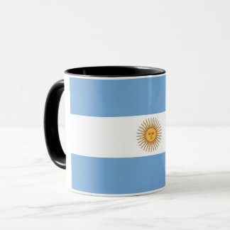 Schwarze kombinierte Tasse mit Flagge von