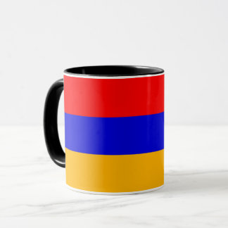 Schwarze kombinierte Tasse mit Flagge von Armenien