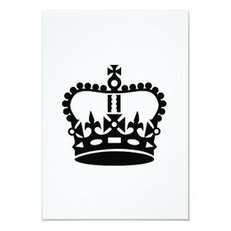 Schwarze Königkrone Individuelle Einladungskarten