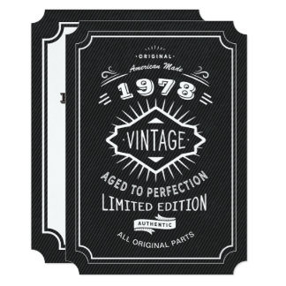 Schwarze Krawatten-Vintages 40. Geburtstags-Party Karte