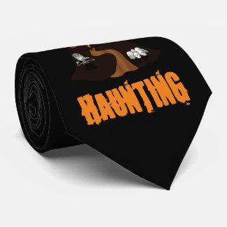Schwarze kundenspezifische Spuk Haus-Krawatte Individuelle Krawatte