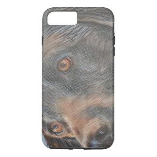 Schwarze Labrador-Nahaufnahme iPhone 8 Plus/7 Plus Hülle