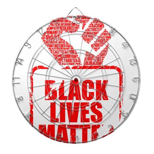 Schwarze Leben-Angelegenheit Dartscheibe