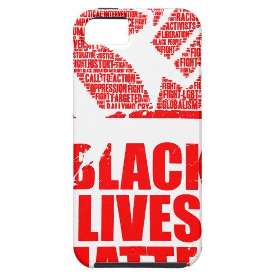 Schwarze Leben-Angelegenheit Etui Fürs iPhone 5