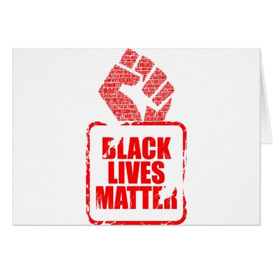 Schwarze Leben-Angelegenheit Grußkarte