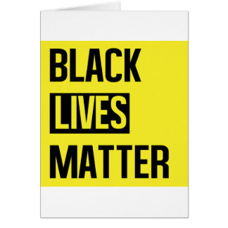 Schwarze Leben-Angelegenheit Karte