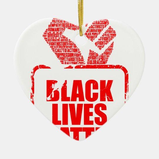 Schwarze Leben-Angelegenheit Keramik Herz-Ornament
