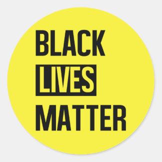 Schwarze Leben-Angelegenheit Runder Aufkleber
