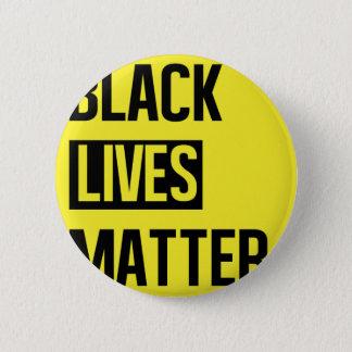 Schwarze Leben-Angelegenheit Runder Button 5,7 Cm