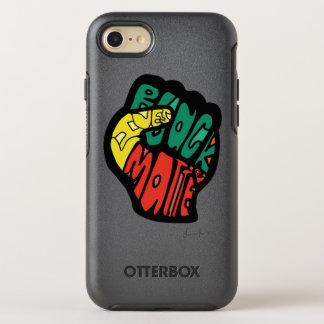 Schwarze Leben-Angelegenheits-Faust OtterBox Symmetry iPhone 8/7 Hülle