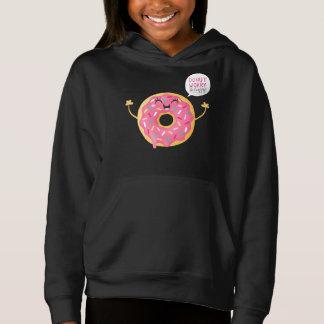 Schwarze Mädchenhoodie-Süßigkeitens-Krapfen-Sorge Hoodie