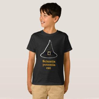 Schwarze Magie Hut, Goldlateinisches Zitat, Wissen T-Shirt